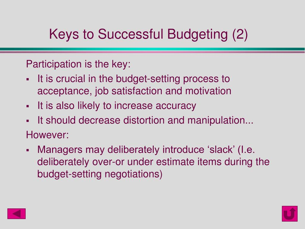 Keys to Successful Budgeting (2)