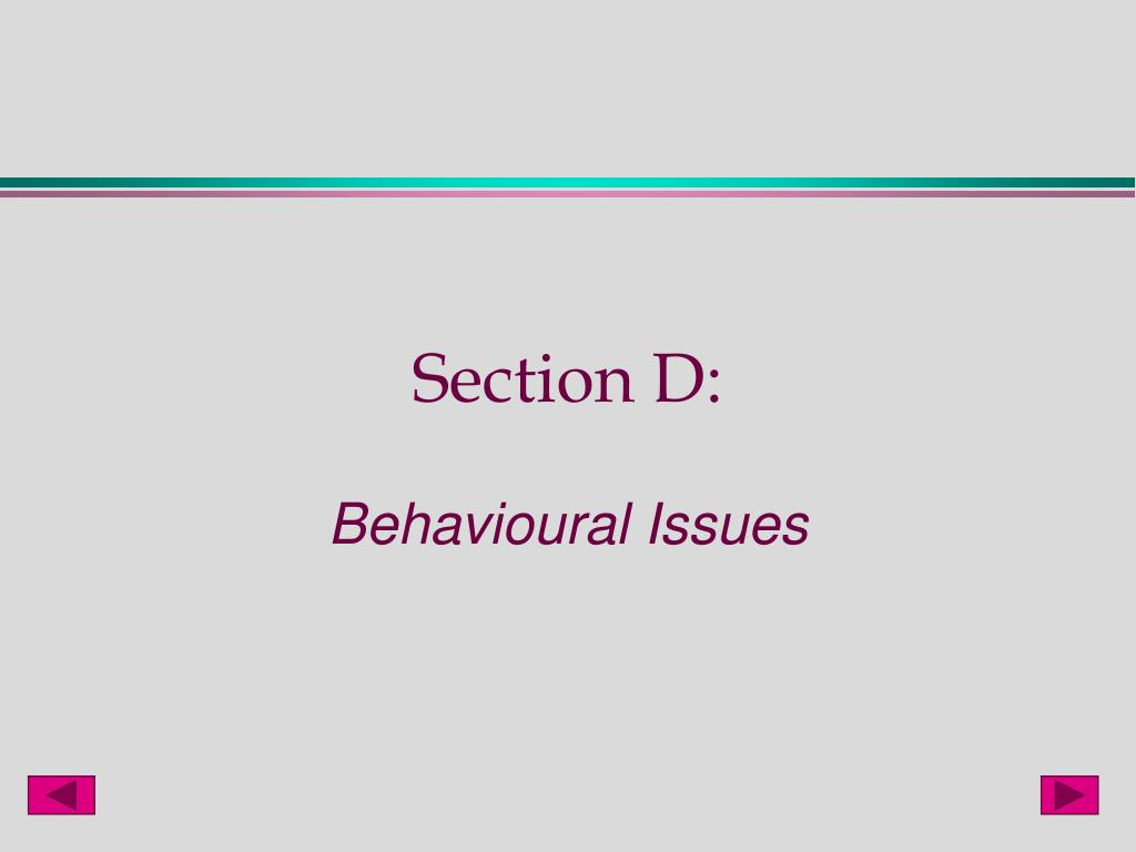 Section D: