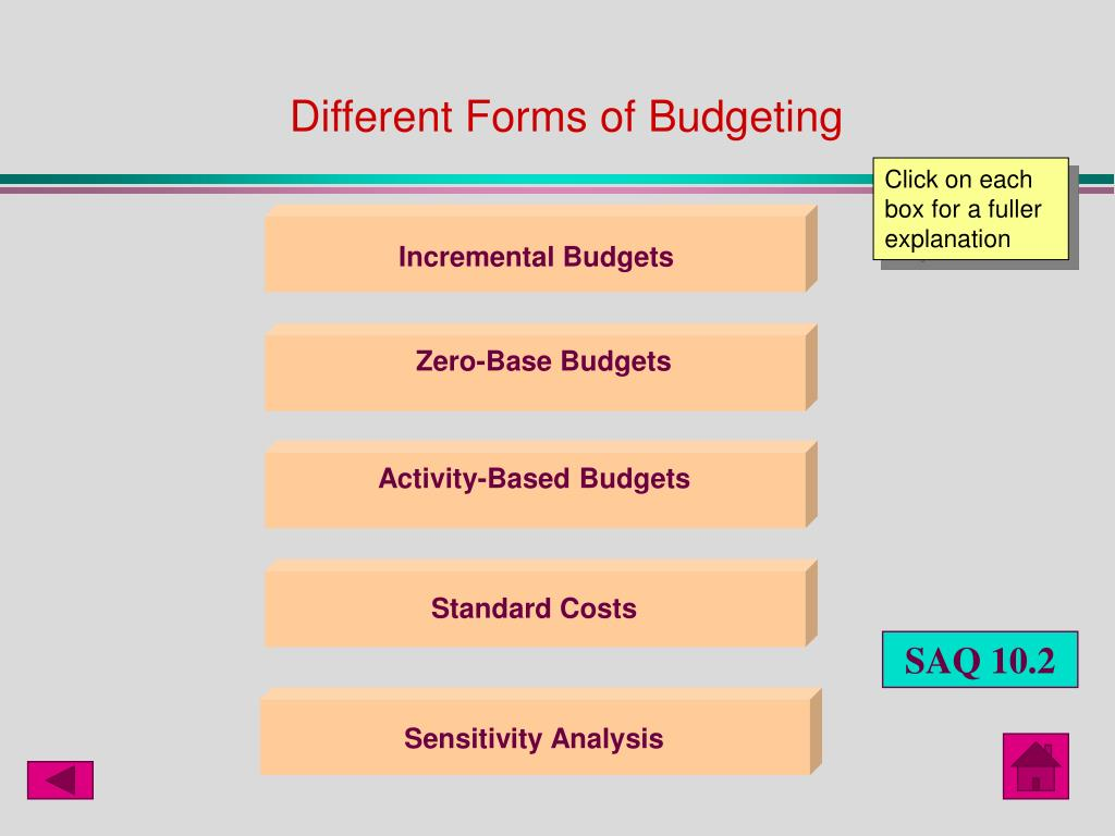 Different Forms of Budgeting