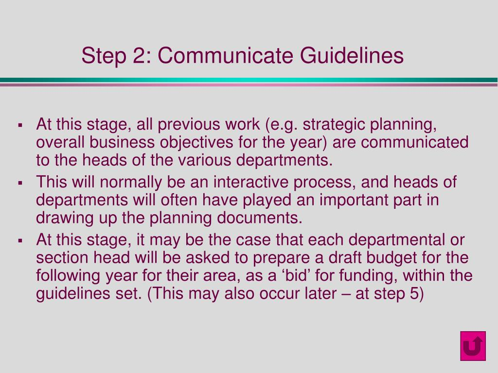 Step 2: Communicate Guidelines