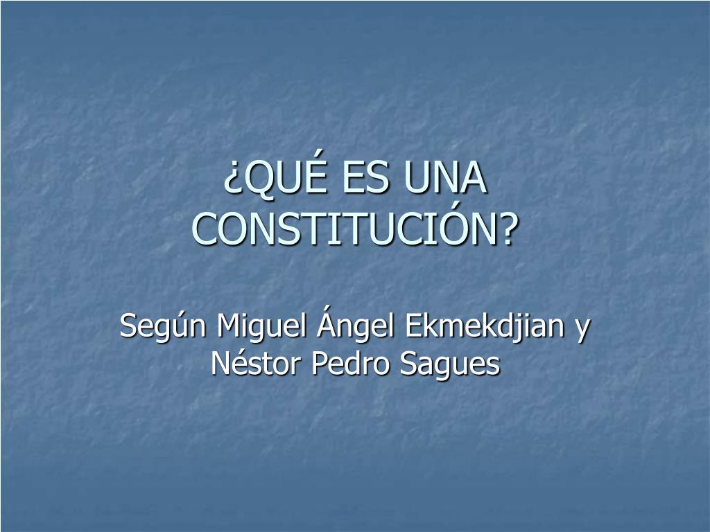 qu es una constituci n l.