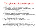 thoughts and discussion points