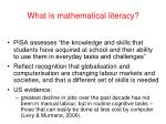what is mathematical literacy16