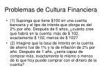 problem as de cultura financiera