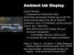 ambient ink display