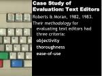 case study of evaluation text editors