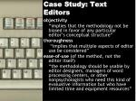 case study text editors