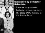 evaluation by computer scientists