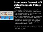 experience focused hci virtual intimate object vio35