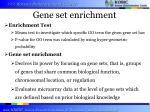 gene set enrichment