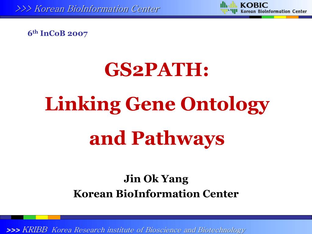 gs2path linking gene ontology and pathways l.