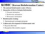 kobic korean bioinformation center