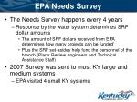 epa needs survey
