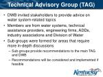 technical advisory group tag