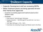 treatment capacity