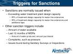 triggers for sanctions