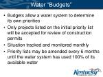 water budgets34