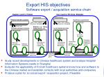 export his objectives software export acquisition service chain