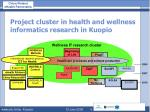 project cluster in health and wellness informatics research in kuopio