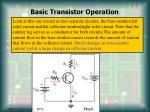 basic transistor operation