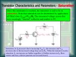transistor characteristics and parameters saturation
