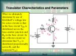 transistor characteristics and parameters11