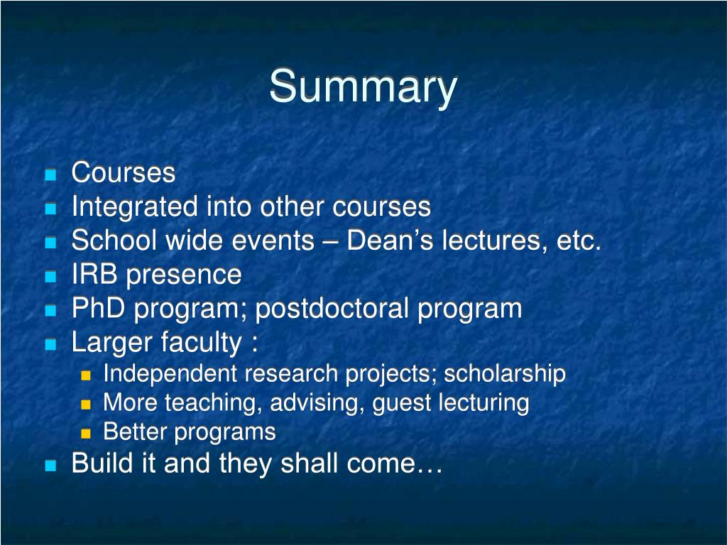 guest lecture summary