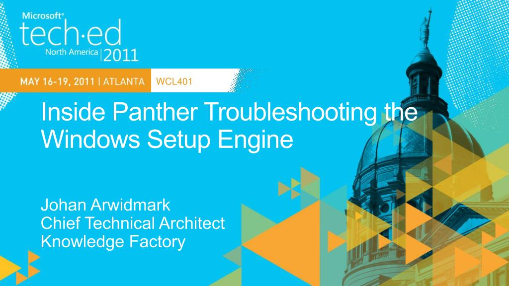 inside panther troubleshooting the windows setup engine l.