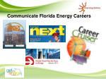 communicate florida energy careers