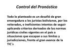 control del pron stico
