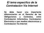 el tema espec fico de la contrataci n v a internet28