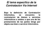 el tema espec fico de la contrataci n v a internet29