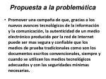 propuesta a la problem tica42