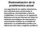 sistematizaci n de la problem tica actual22