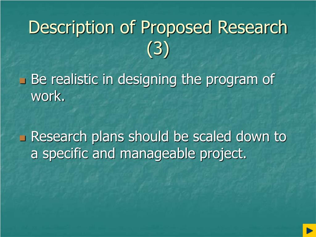 Description of Proposed Research (3)