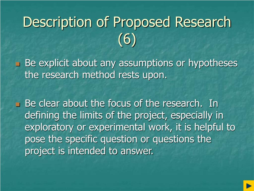 Description of Proposed Research (6)