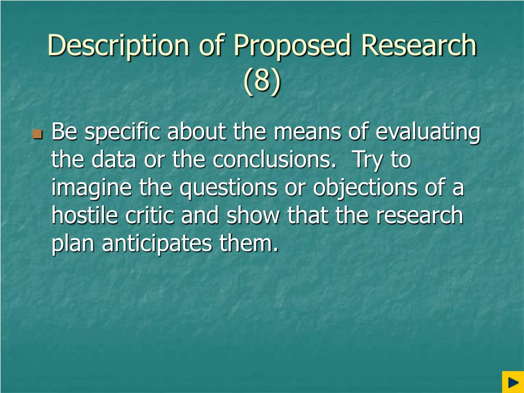 Description of Proposed Research (8)