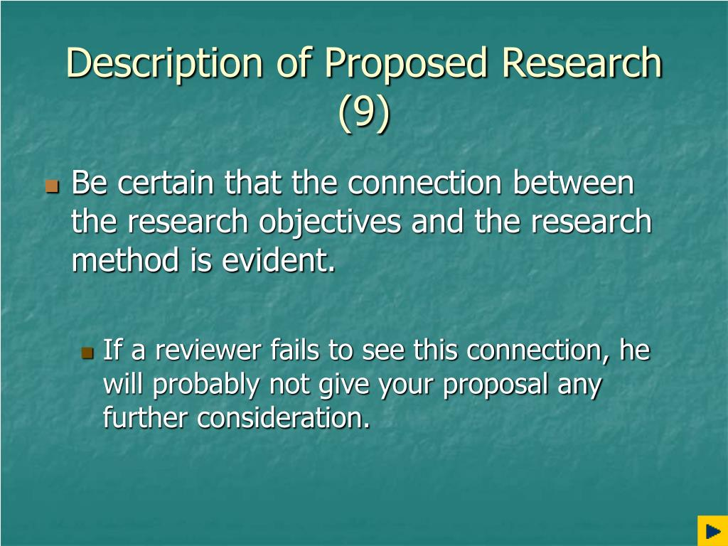 Description of Proposed Research (9)