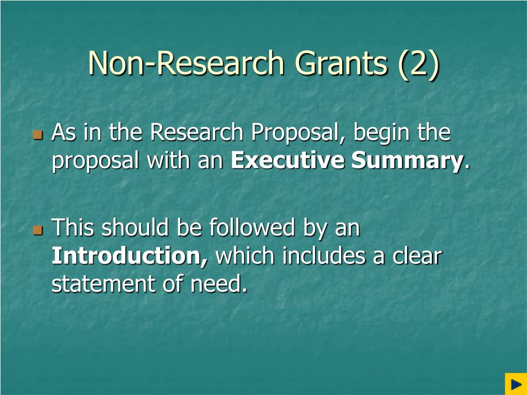 Non-Research Grants (2)