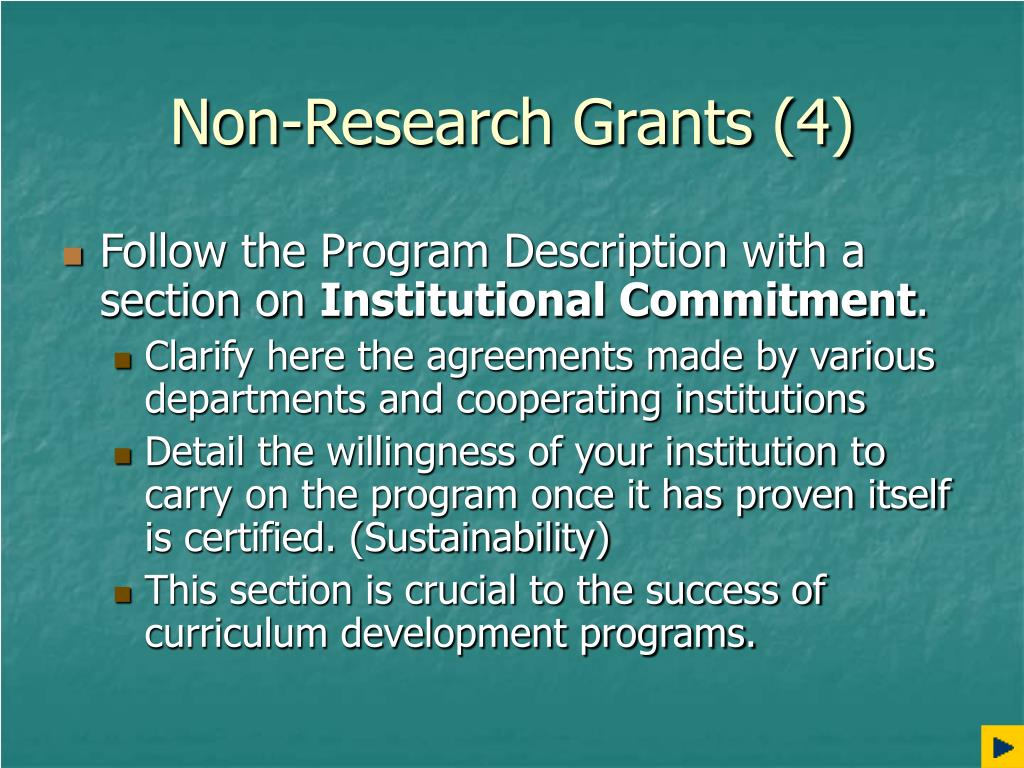 Non-Research Grants (4)