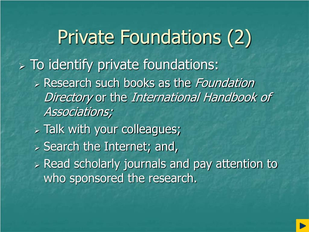 Private Foundations (2)