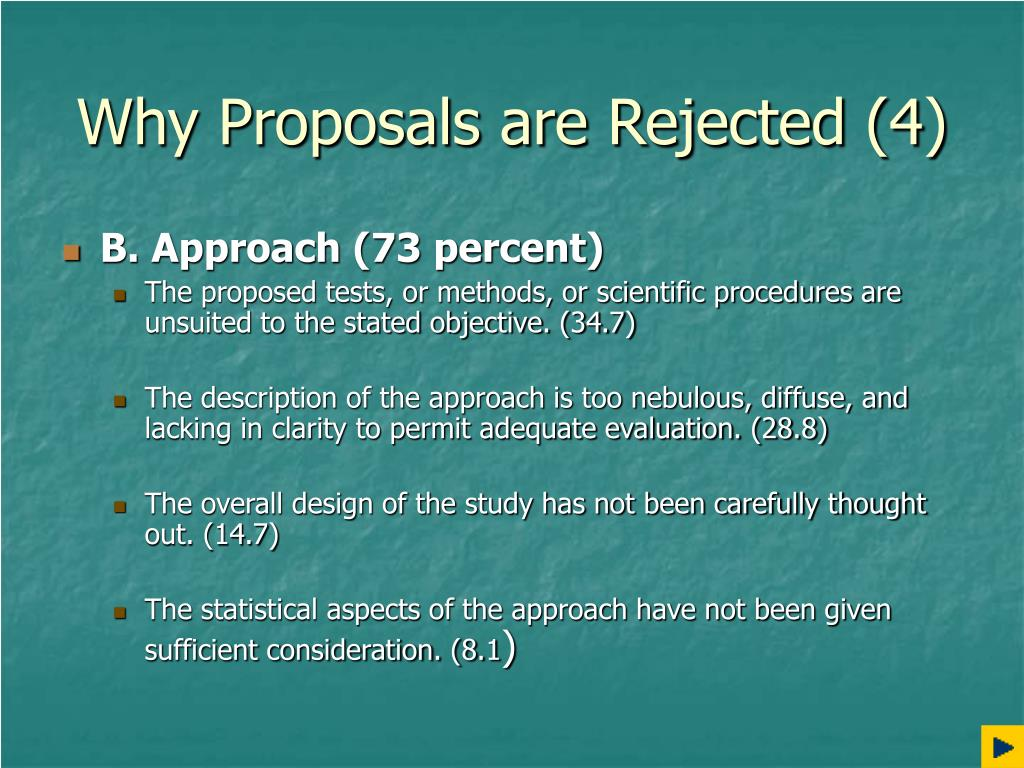 Why Proposals are Rejected (4)
