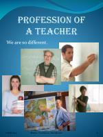 profession of a teacher