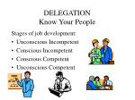 delegation know your people