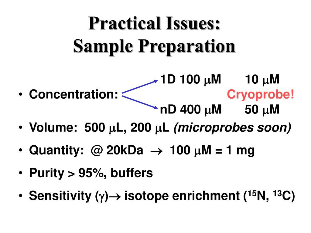 practical issues sample preparation l.