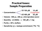 practical issues sample preparation