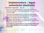 implementare legea comer ului electronic10