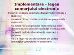 implementare legea comer ului electronic11