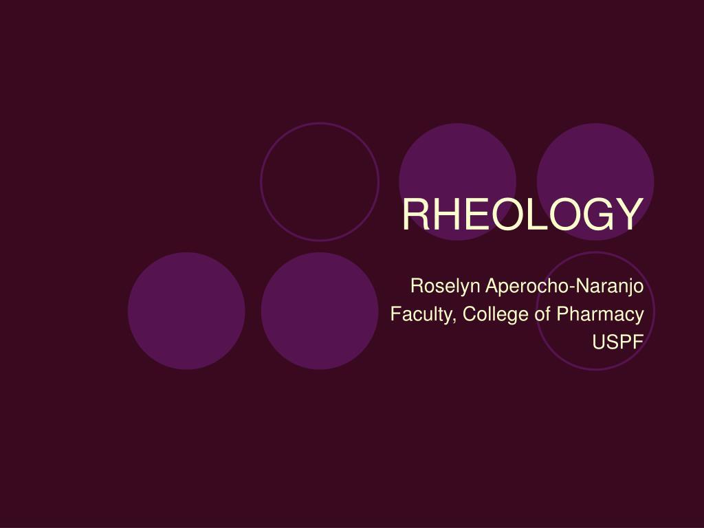 rheology l.