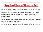 required rate of return j j